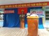 Hiệu trưởng: Nguyễn Trường Hải phát biểu trong buổi lễ